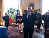 Forlì - Festa della repubblica 2019 - inno cantato dal Prefetto Antonio Corona