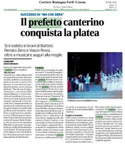 Corriere Romagna - Forlì-Cesena - Il prefetto canterino conquista la platea