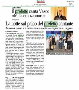 Il Resto del Carlino – il Prefetto si esibisce in uno spettacolo in piazza a Longiano